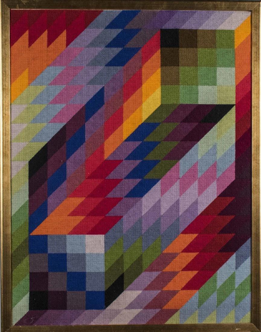 Woven Geometric Textile Art (20th Century)