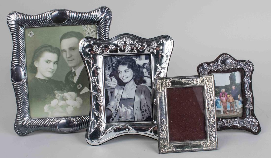 Four Silver Plated Picture Frames