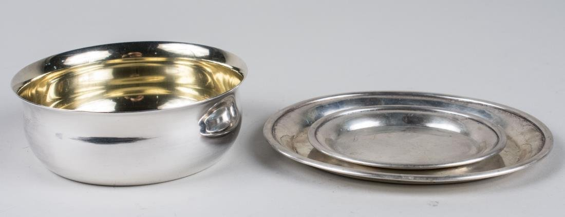 Two Small Swedish Silver Trays and Bowl