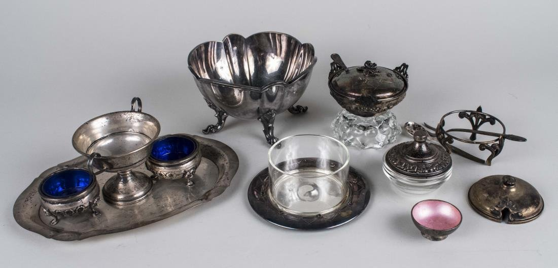 Group of Sterling & Silver Plated Articles