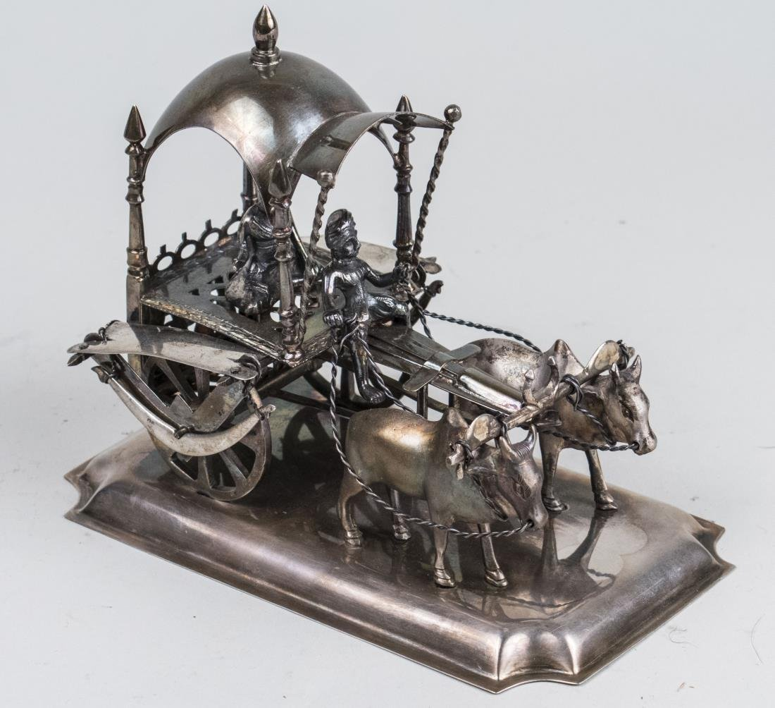 Portuguese Silver Ox and Cart   *