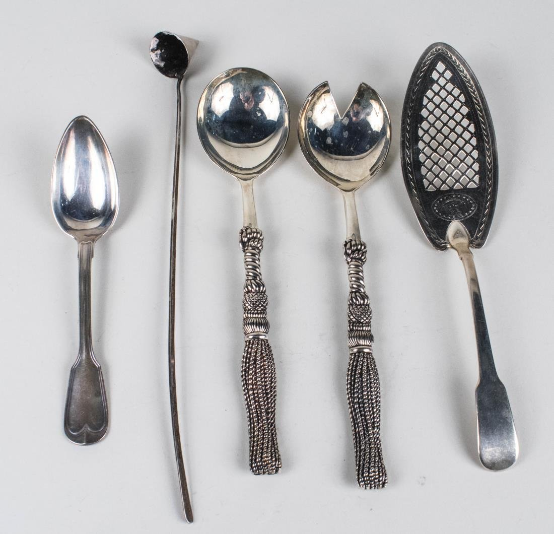 Group of Silver & Silver Plated Flatware Articles