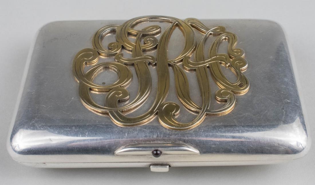 Russian Diamond Set Silver Cigarette Case   * - 2