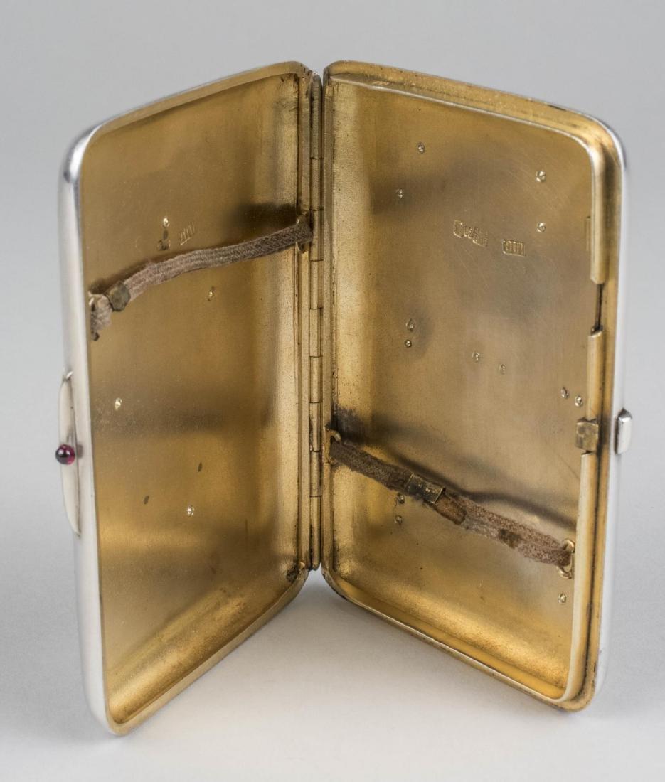 Russian Diamond Set Silver Cigarette Case   * - 4
