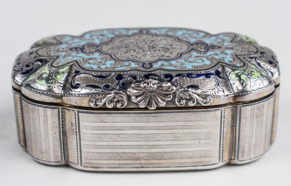 French / Russian Silver and Enamel Box   *