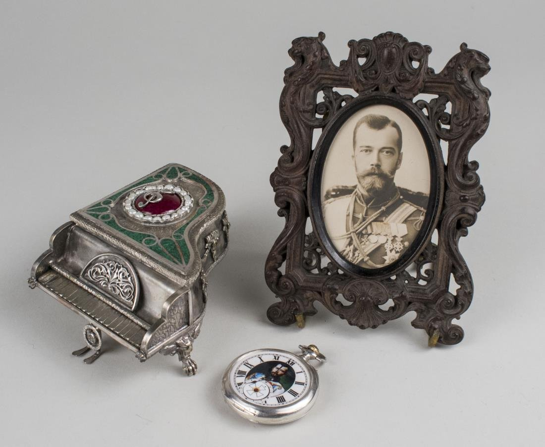 Silver Piano, Longines Pocketwatch & Czar's Photo*