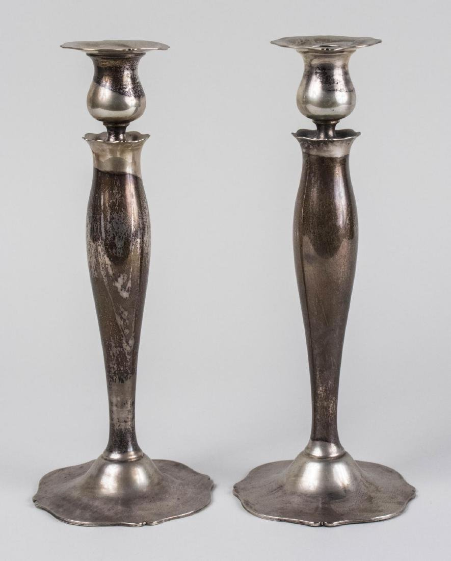 Pair of Wallace Sterling Silver Candlesticks