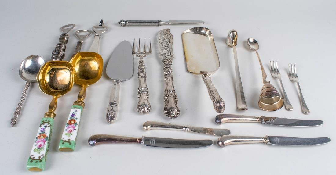 Group of  Silver & Silver Plated Flatware