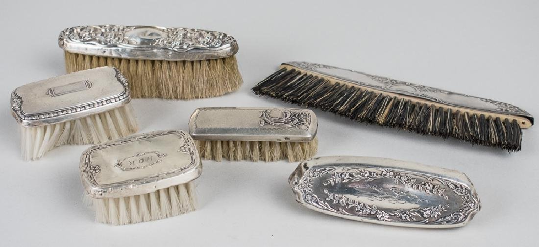 Group of Sterling Silver Dresser Brushes