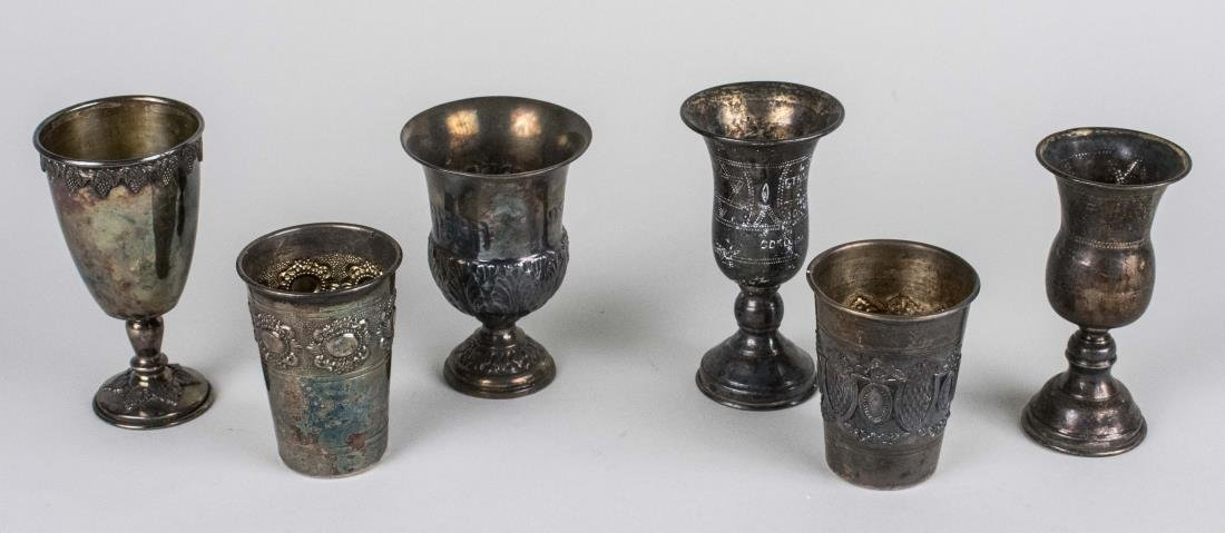 Group of Kiddush and Wine Cups