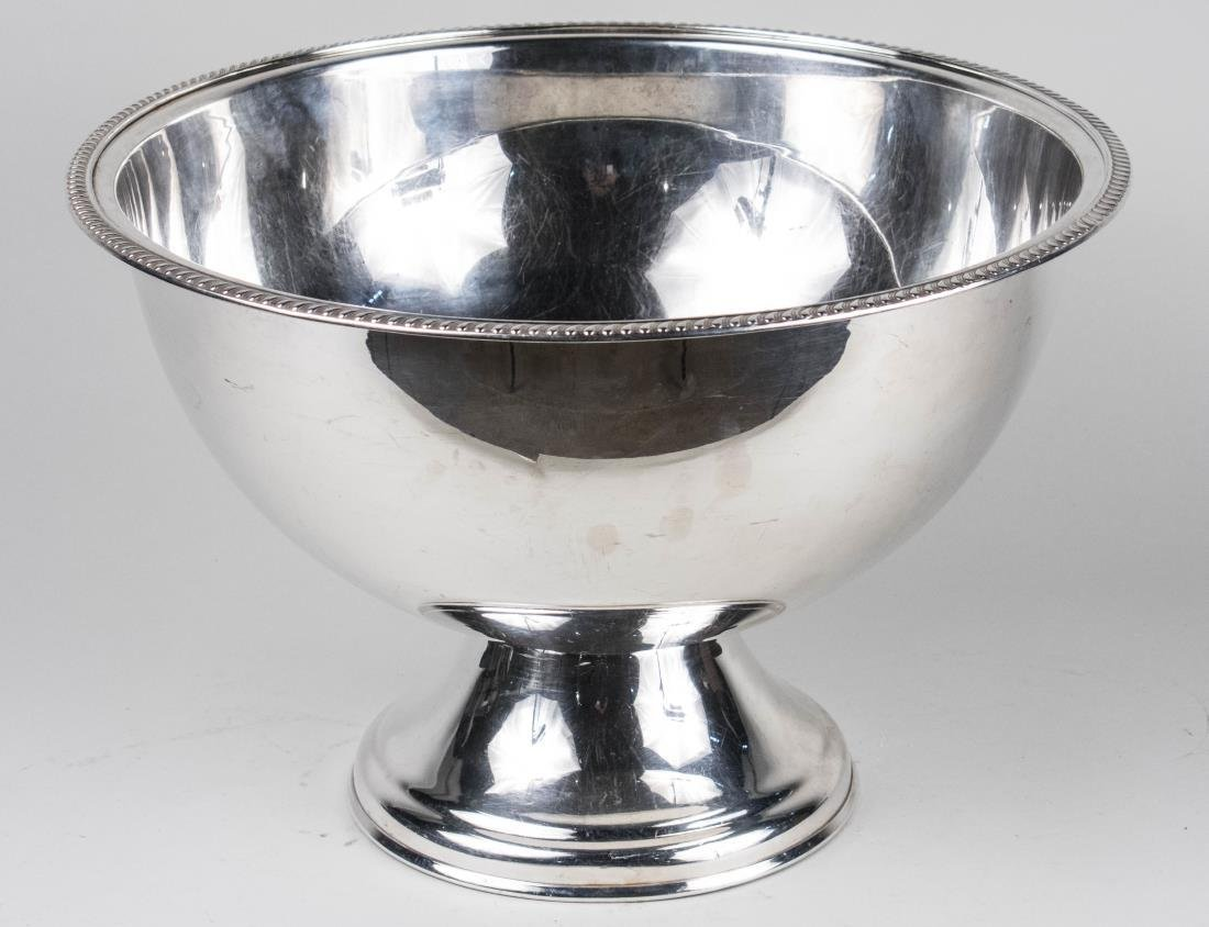 S.W. Haber Silver Plated Pedestal Punch Bowl