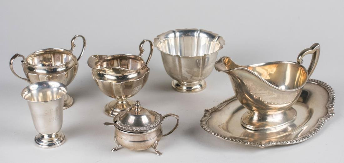 Group of Sterling Table Articles