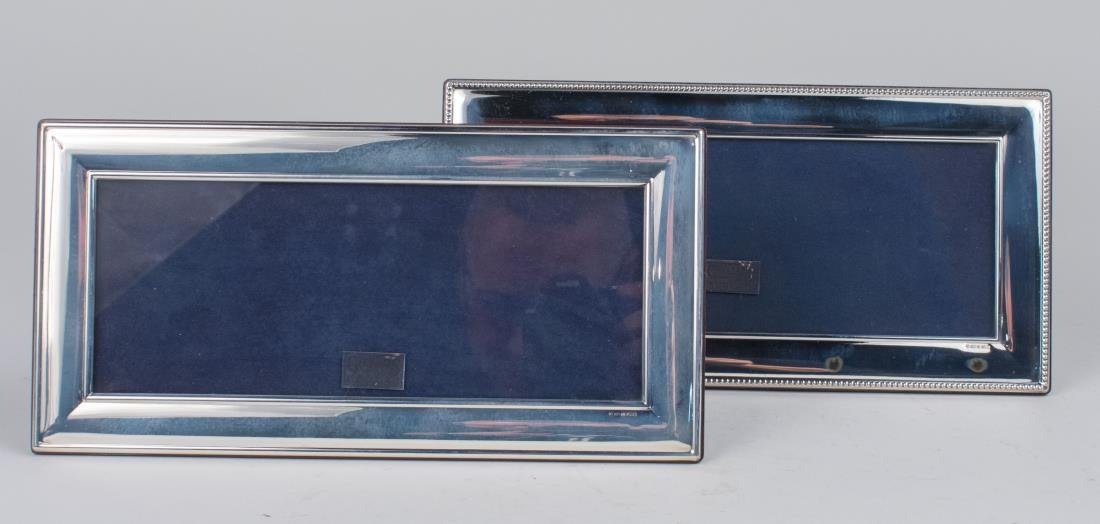 Pair of English Silver Picture Frames