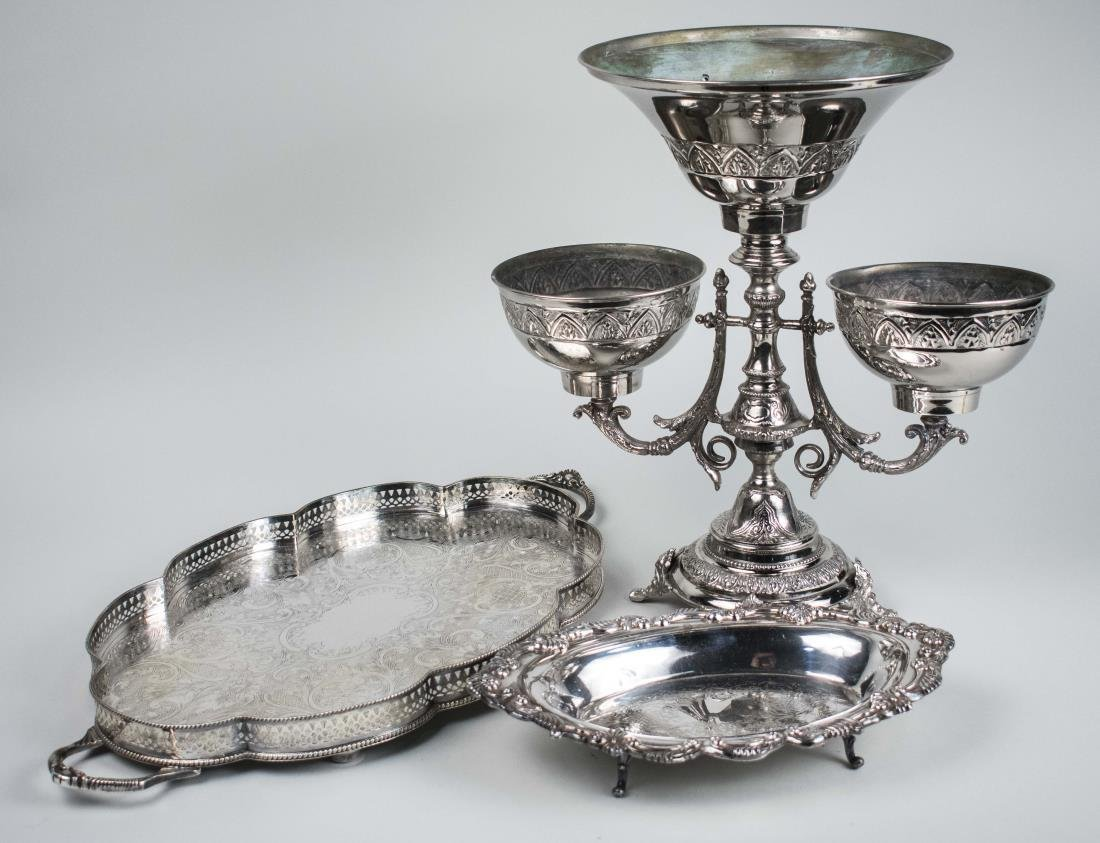 Three Silver Plated Table Articles