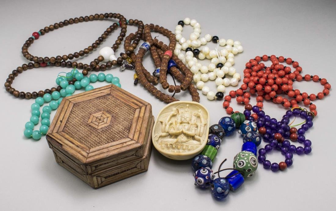 Group of Chinese Bead Necklaces