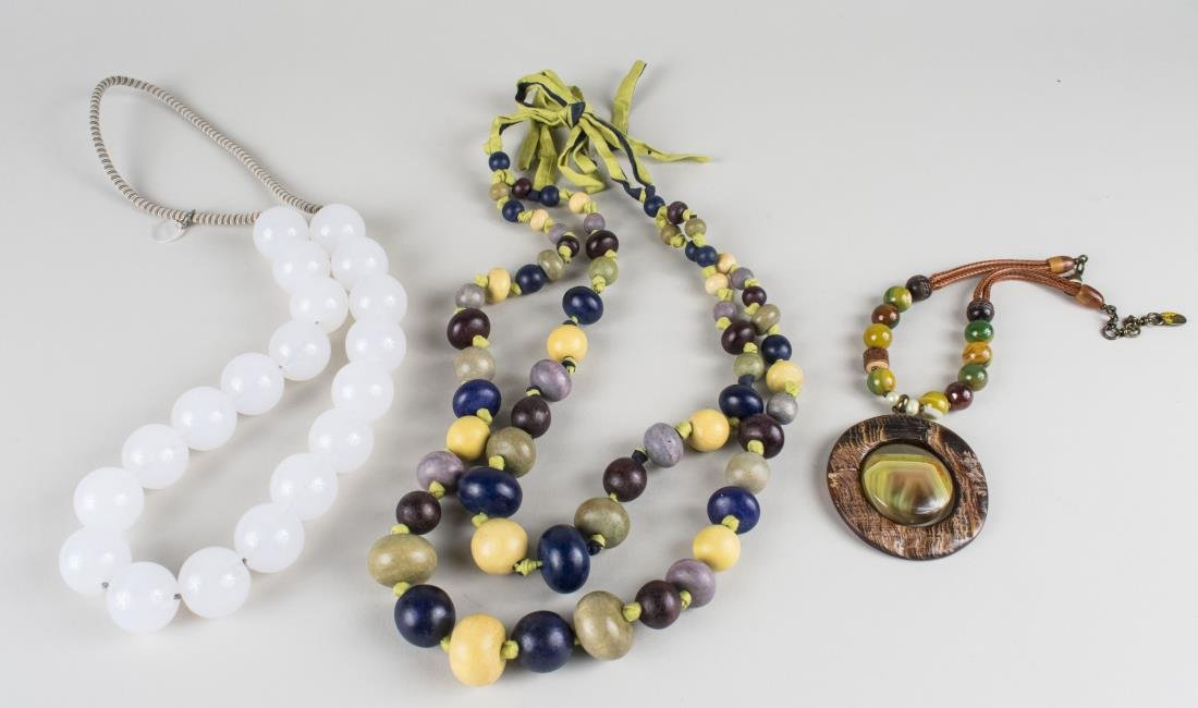 Three Bead Necklaces