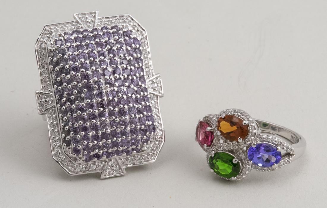 Color Change Garnet Ring & Multi Gem Ring