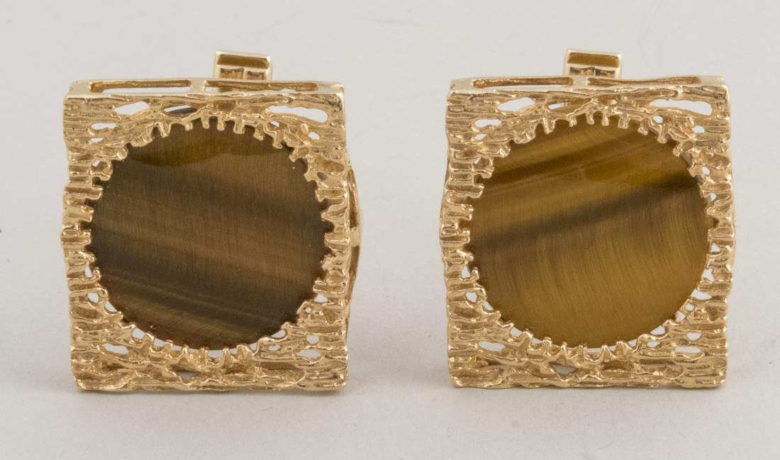 Tiger's Eye Cufflinks   *