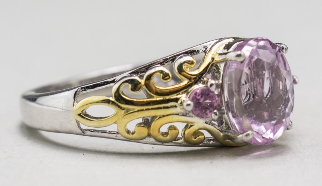 Kunzite and Pink Toumaline Ring