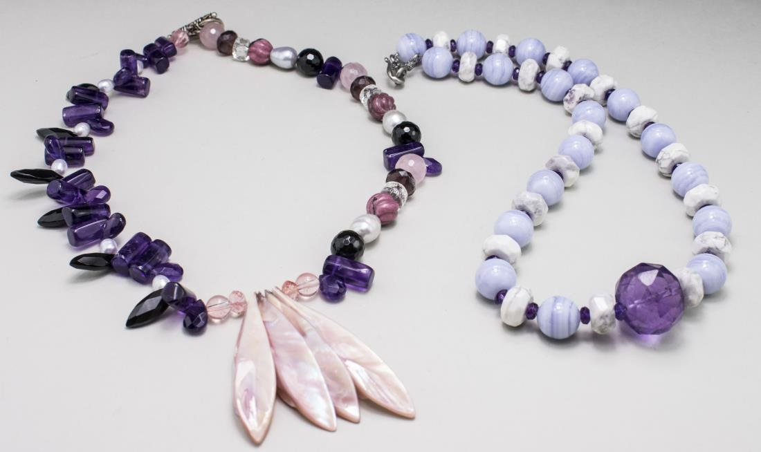 Two Gemstone Bead Necklaces