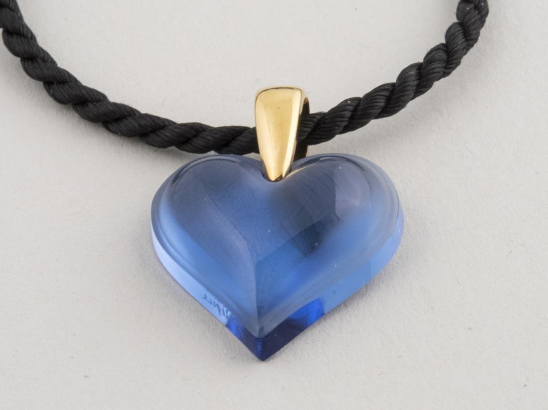 Lalique Heart Pendant
