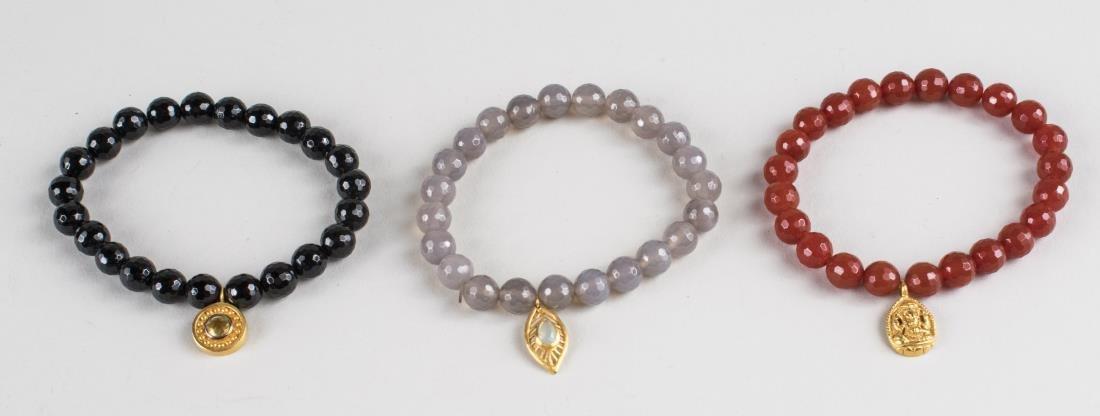 Three Satya Faceted Bead Bracelet Set