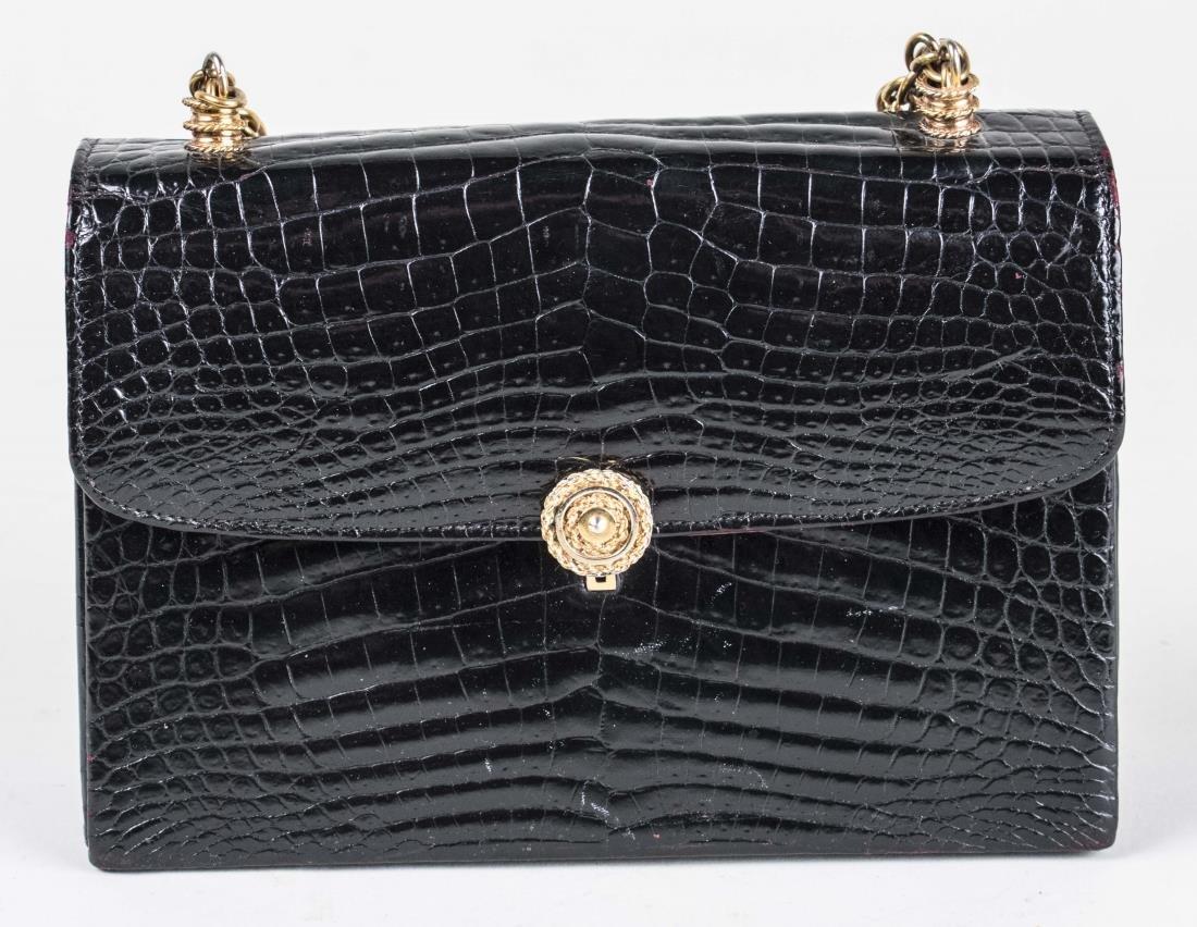 Gucci Black Alligator Handbag