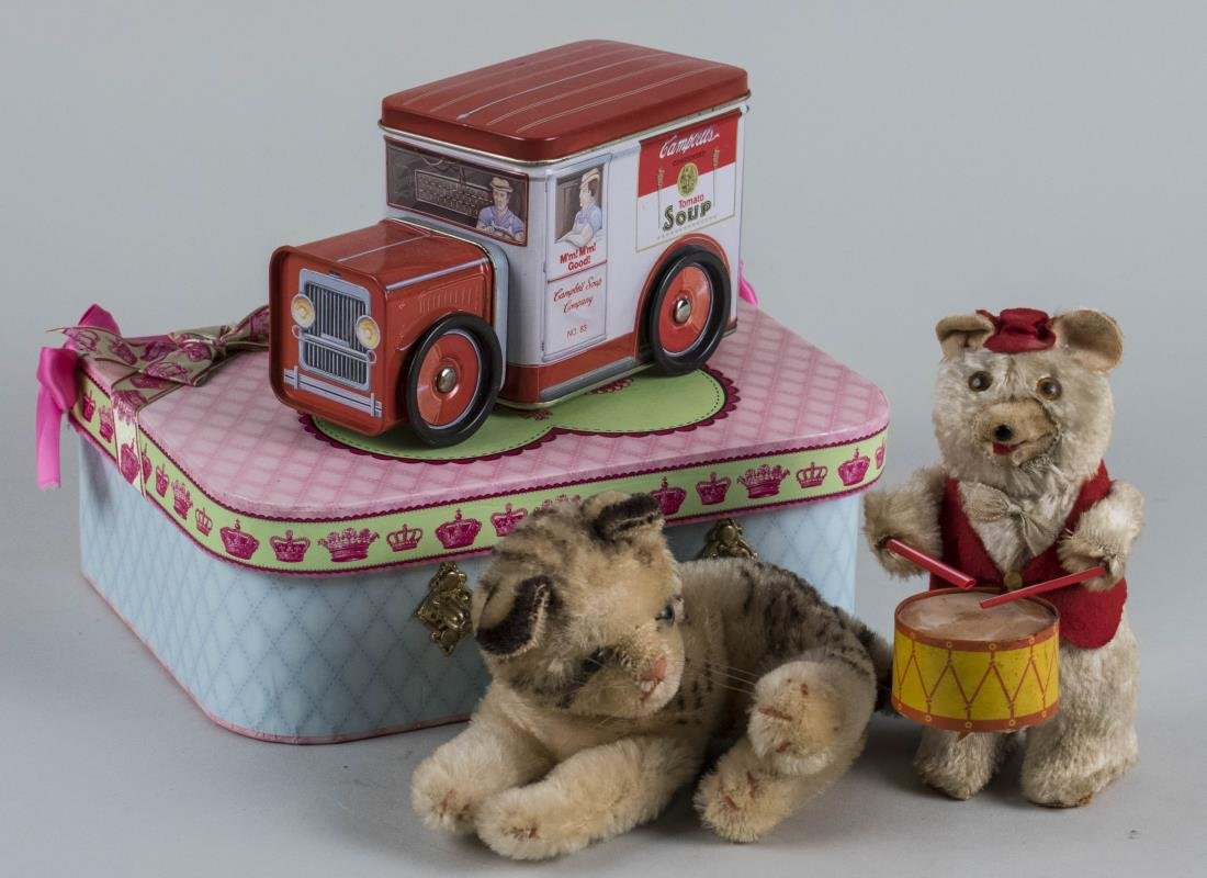 Bear Drummer, Toy Cat & Campbell Soup Truck