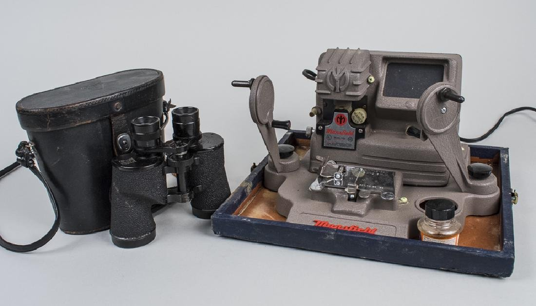 Film Splicing Machine & Binoculars