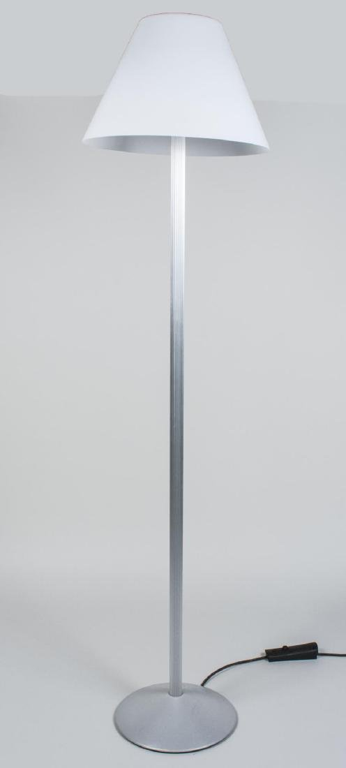 Metal Floor Lamp with Glass Shade