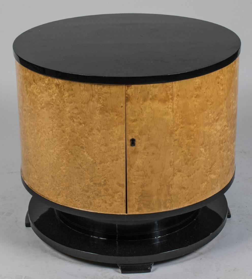Modern Burl Wood Side Table