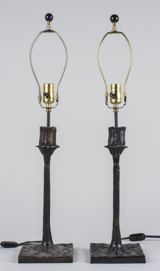 Pair of Giacometti Style Lamps