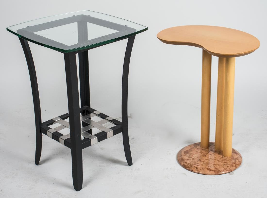 Reniform Side Table and Glass Top Table