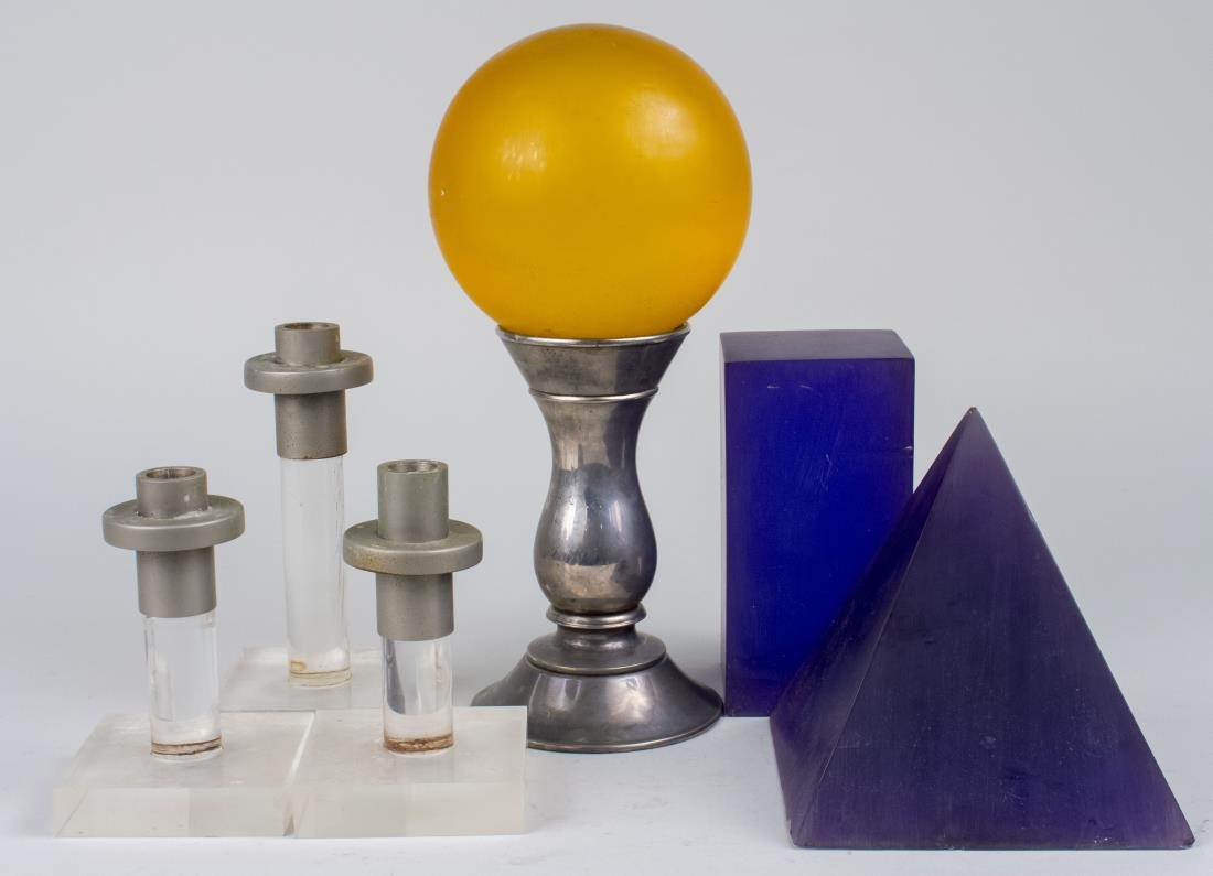 Group of Acrylic Table Decorations