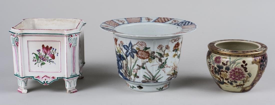 Three Ceramic Cachepots