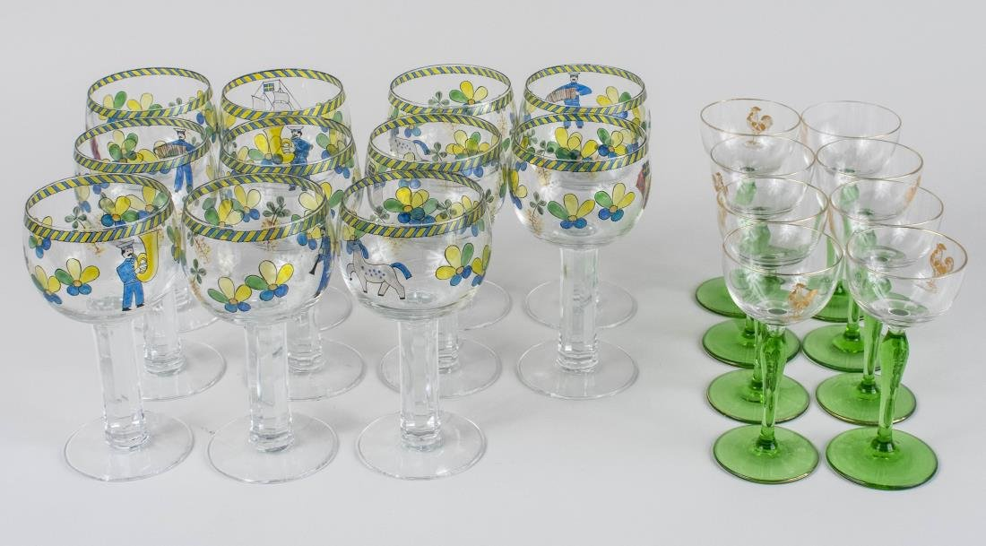 Two Sets of Stemware