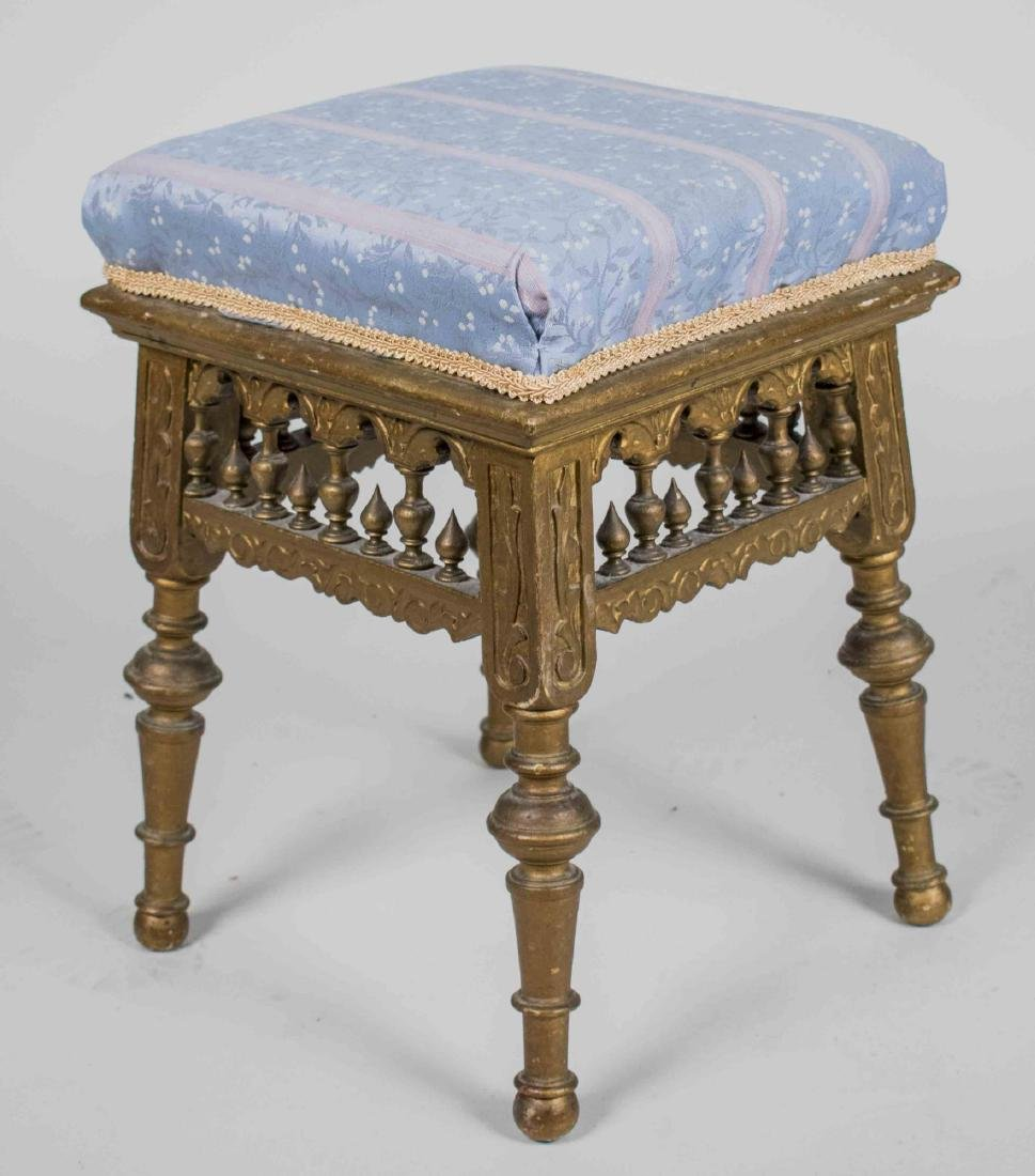 Gold Painted Stool
