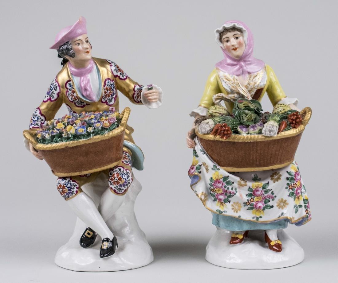 Pair of Derby Porcelain Figures