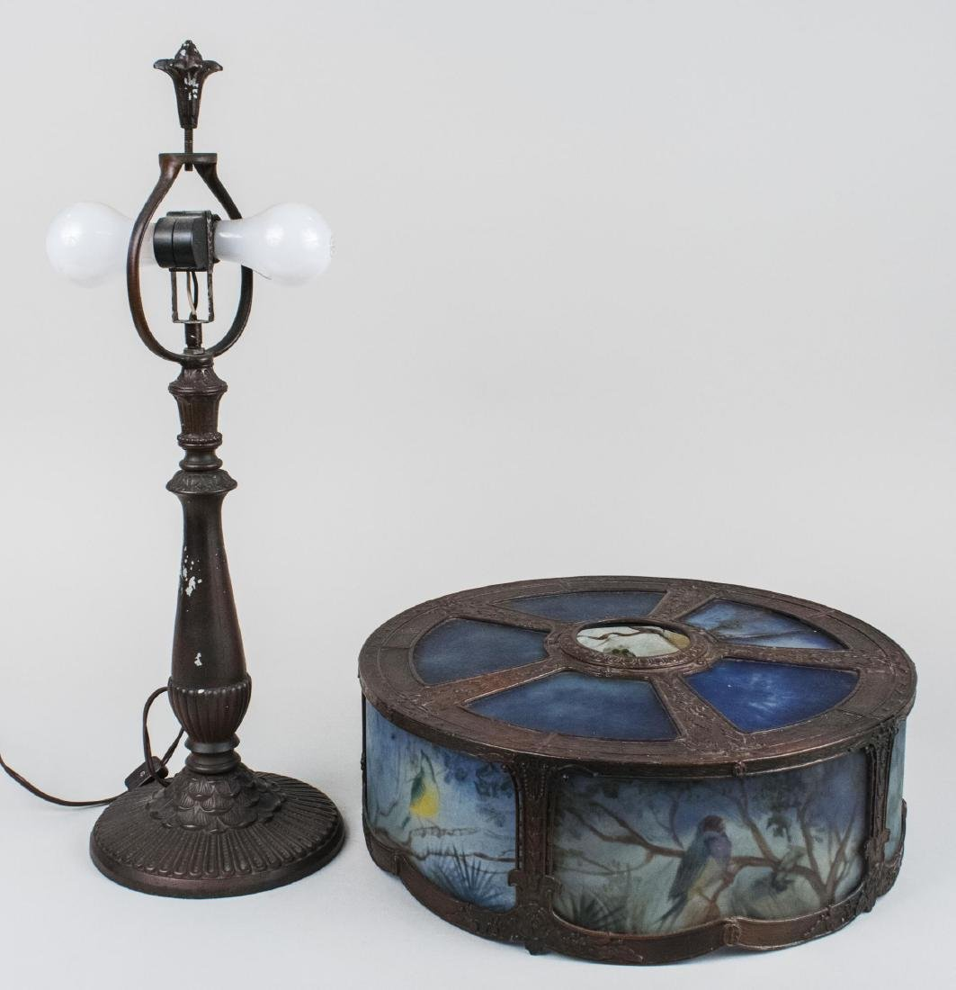 Tiffany Style Leaded Glass Lamp