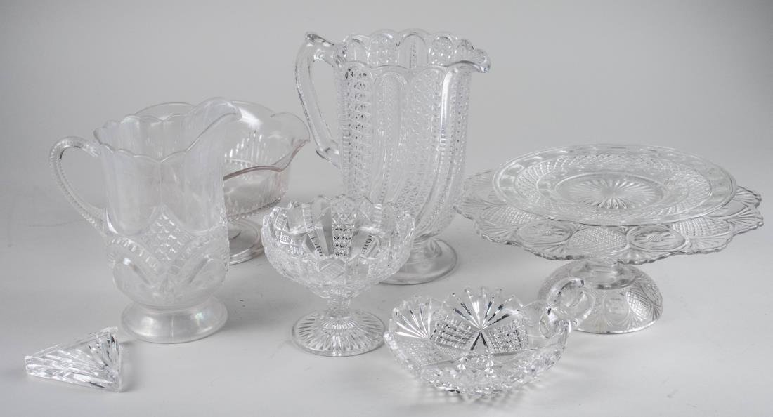 Group of Colorless Glass Table Articles
