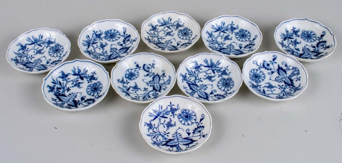 Set of Ten Meissen Porcelain Butter Pats