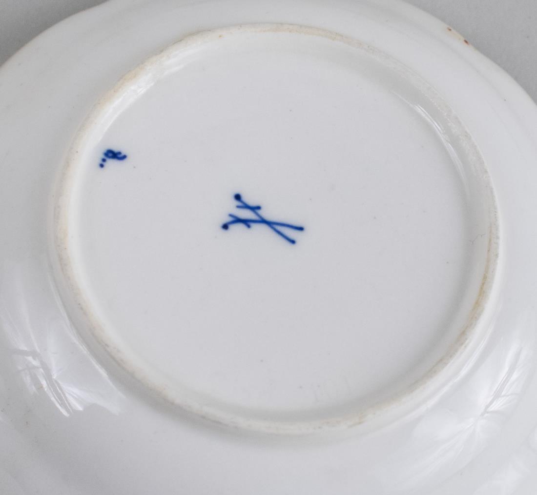 Set of Ten Meissen Porcelain Butter Pats - 2