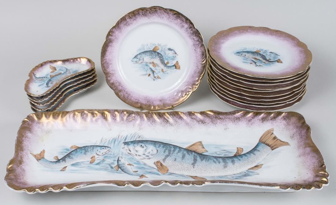 Limoges Porcelain Fish Service