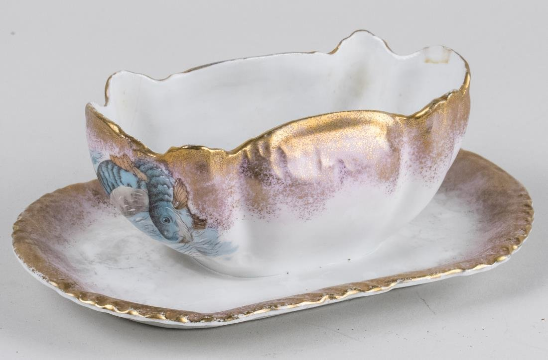 Limoges Porcelain Fish Service - 2