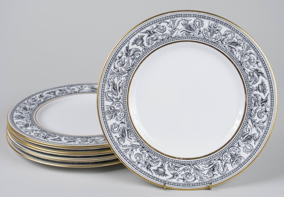 Set of Eight Wedgwood Porcelain Dinner Plates