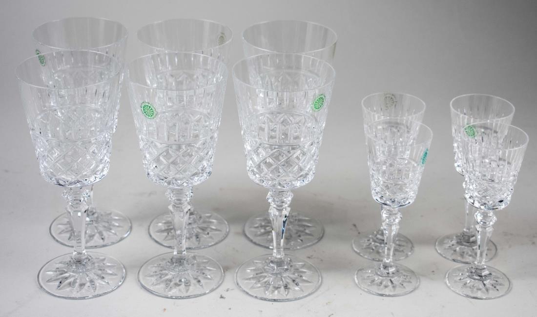 Set of Galway Crystal Stemware