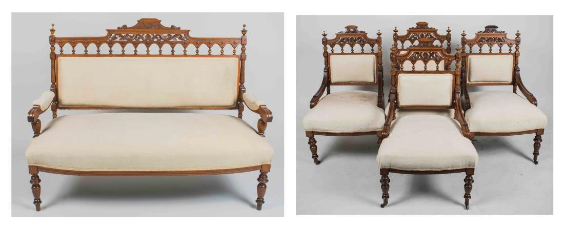 Aesthetic Style Settee and Chair Suite