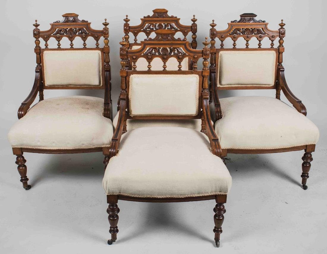Aesthetic Style Settee and Chair Suite - 2