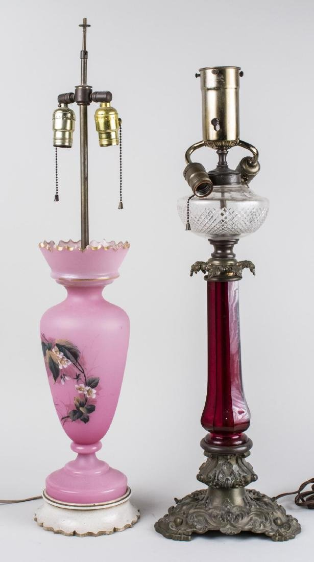 Two Glass Lamps