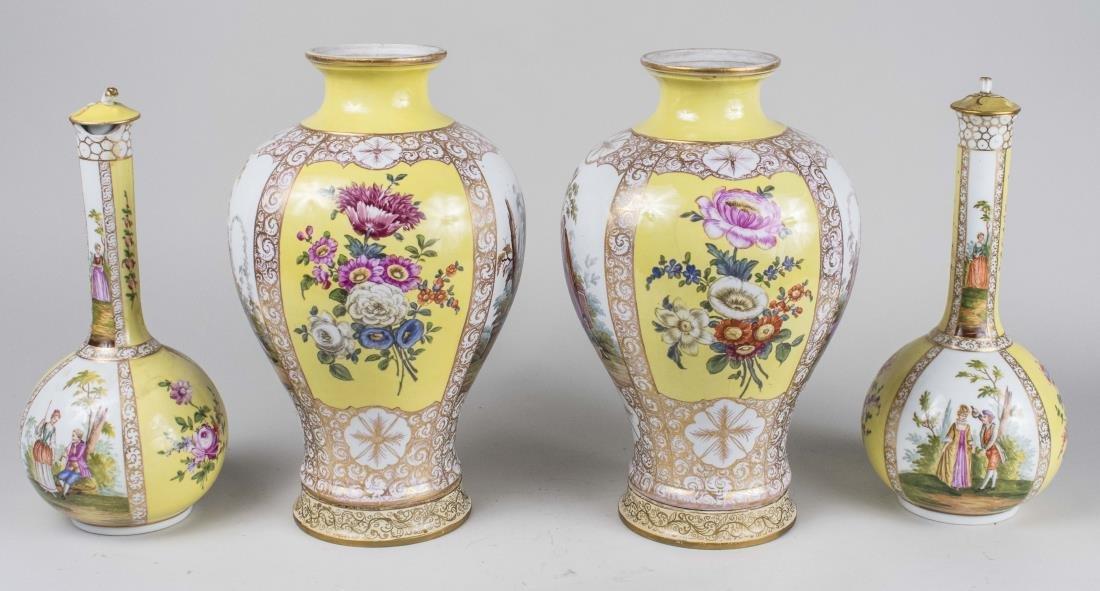 Dresden Porcelain Garniture